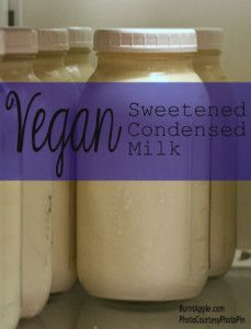 Vegan Sweetened Condensed Milk - Burnt Apple