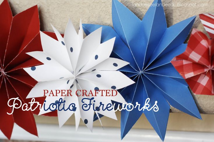 "Tutorial on cute paper ""fireworks"" for the 4th of July. Can be adapted for other holidays using different paper and colors."