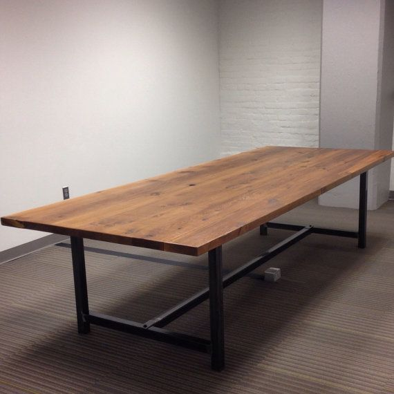 Conference Room Table In Thick 2.5 Top And Reclaimed Wood And Steel Legs In  Your Choice Of Color, Size And Finish | Law Office | Pinterest | Conference  Room ...