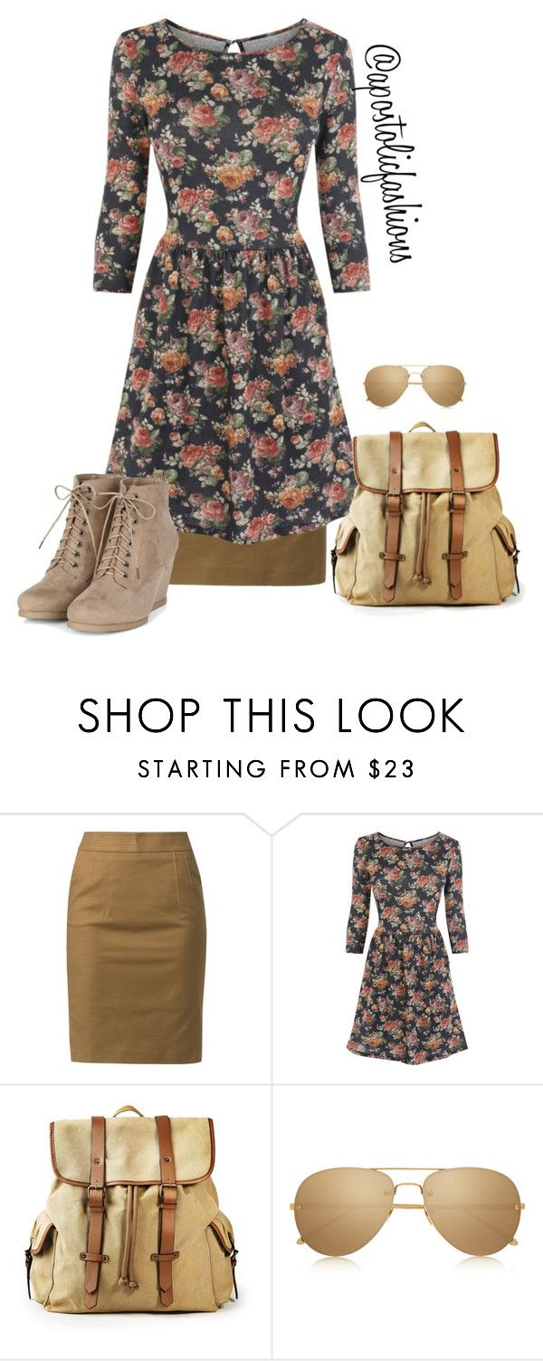 """Apostolic Fashions #860"" by apostolicfashions on Polyvore featuring Kiomi, Oasis, MANGO and Linda Farrow"