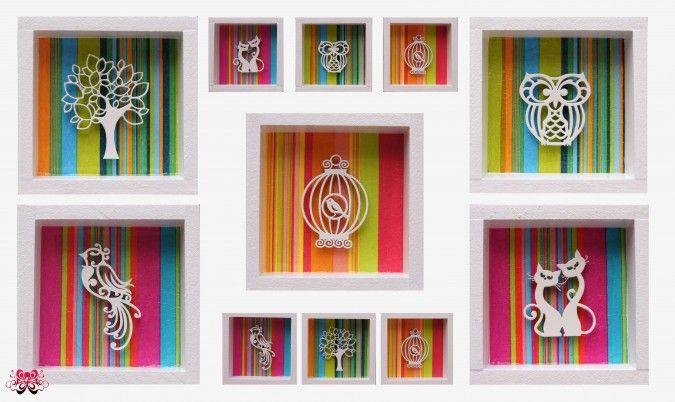 Cuadritos decorativos en madera tipo box varios modelos - Puzzles decorativos ...