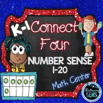 Number Sense Game  - Connect 4 fun for kindergarten and 1st grade.