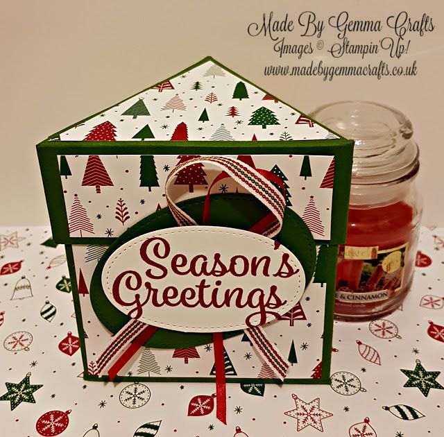 Stampin'Up! Be Merry Triangle Candle Gift Box