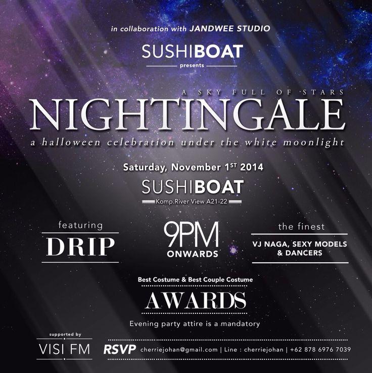 Nightingale halloween party event flyer