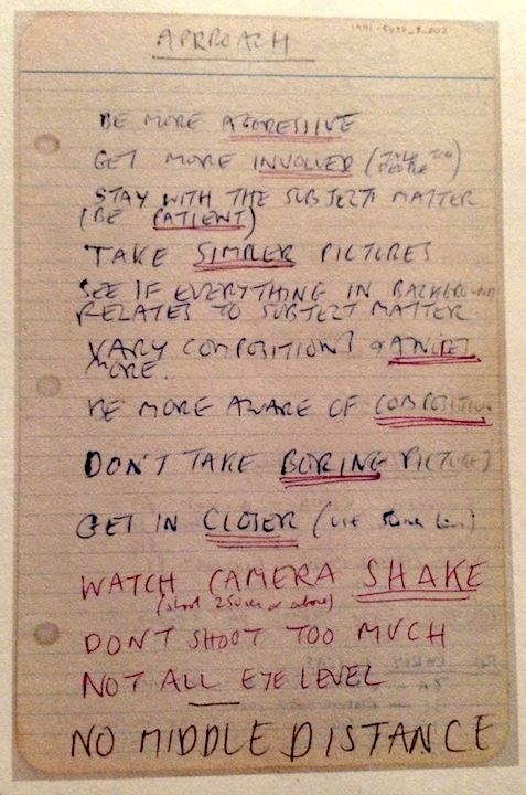 Approach. From the notebooks of photographer Tony Ray-Jones