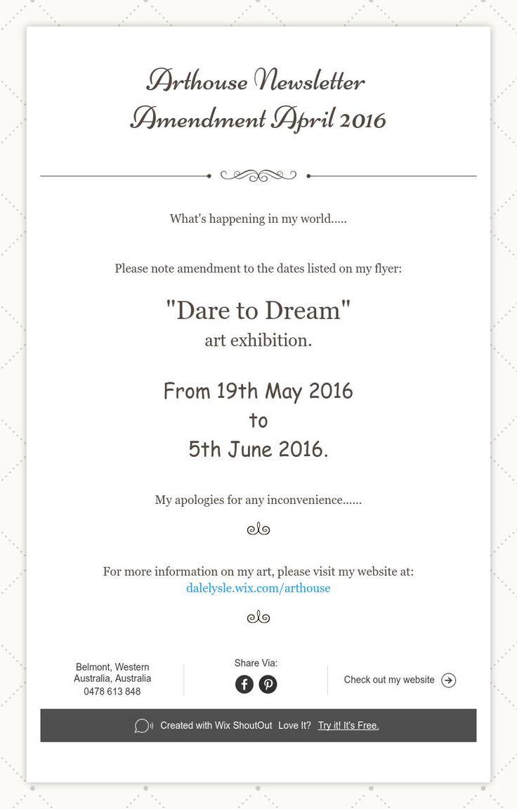 ArthouseNewsletter  Amendment April 2016