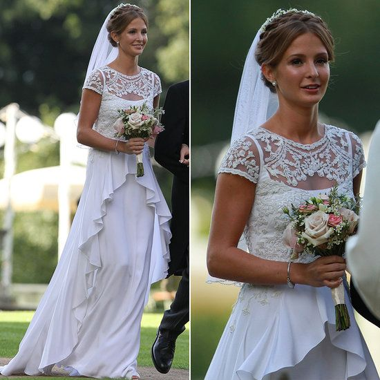 The Bride Wore Temperley: Millie Mackintosh's Vintage Style Wedding Dress #weddings #vintage #celeb