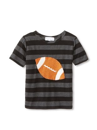60% OFF Tilly & Jax Boy's Finn Striped Tee (Grey/Black Stripe)