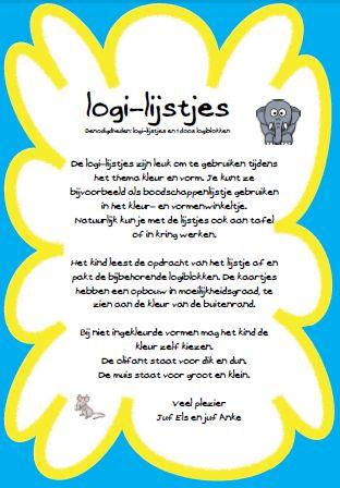 Opdrachtkaarten voor de logiblokken op jufanke.nl