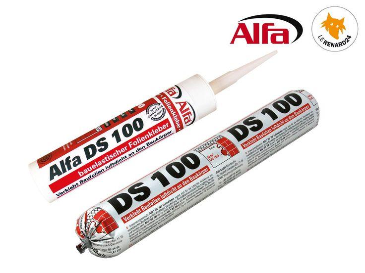 DS ALFA®100 Colle / Mastic d'étanchéité pour fixer des écrans et film est un mastic spécialement formulé pour assurer l'étanchéité périphérique de la membrane d'étanchéité à l'air. Permet de faire tout les chevauchements et joints de jonction de la membrane avec les autres matériaux en périphérie - idéal pour la maçonnerie, le béton, le plâtre, les enduits, le bois de charpente, le métal etc.