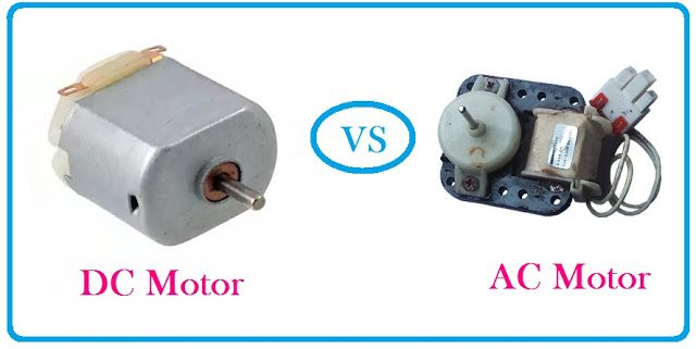 Ac Motor Vs Dc Motor Motor Motor Works Electric Motor