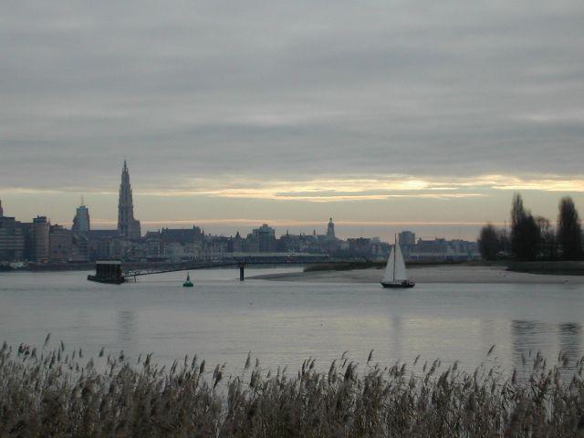 """Antwerp skyline seen from """"Noordkasteel"""""""