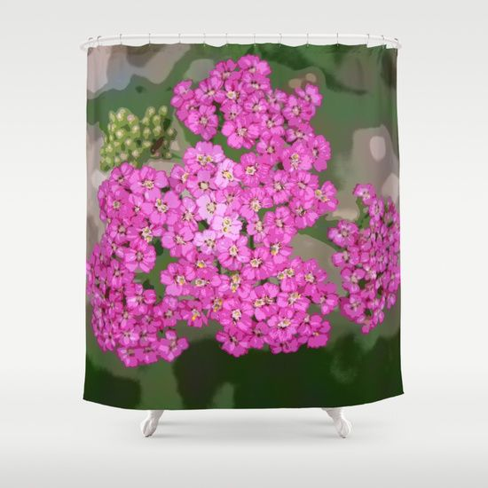 'Pretty Pop Pink' shower curtain by LLL Creations. This design is available in many different products.    #society6 #society6_products  #LLLCreations #showercurtains