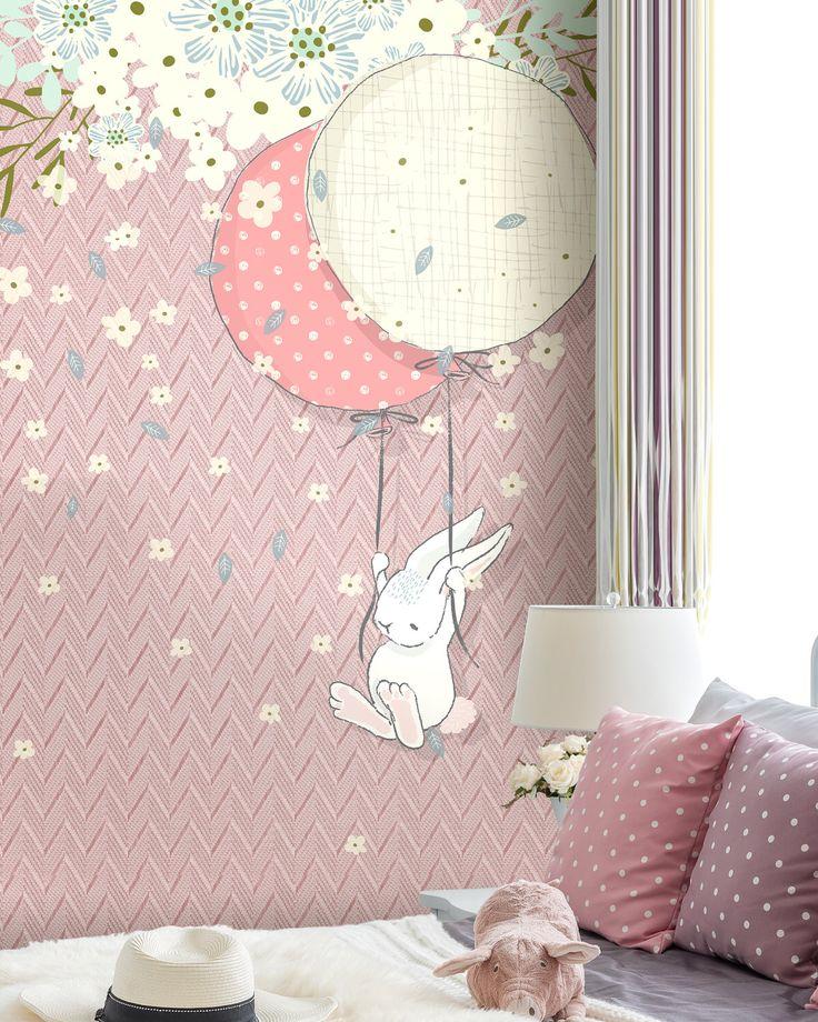 Wallpaper for baby room, Kids Wallpaper Mural, Bunnies, Washable wallpaper, Removable wallpaper by WonderWallstore on Etsy https://www.etsy.com/au/listing/456314076/wallpaper-for-baby-room-kids-wallpaper