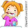 girl brushing teeth clipart - Google Search