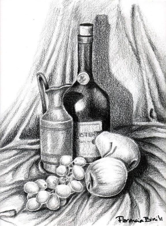 10 Ideas Para Comenzar A Dibujar Bodegones Dibujos A Lapiz Dibujo De Naturaleza Muerta Bodegon Lapiz Claroscuro Dibujo