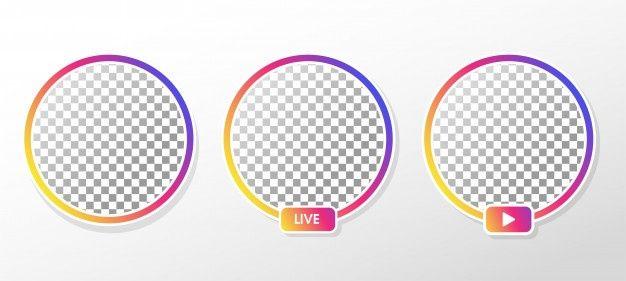 Instagram Live Gradient Circle Profile Frame For Live Streaming On Social Media Facebook Frame Instagram Symbols Instagram Live