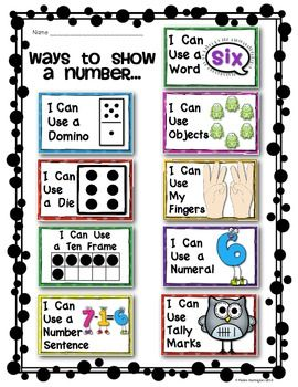 (sample page) Kindergarten Common Core Number Strategy Posters: {Math Wall) $