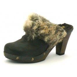 A voir sur Trenzia.fr. Sabots Koah noir modèle BOULE AVIATOR. Chaussures pour femme, en cuir. Sabots à talon de 6 cm, talon bottier. Livraison gratuite.
