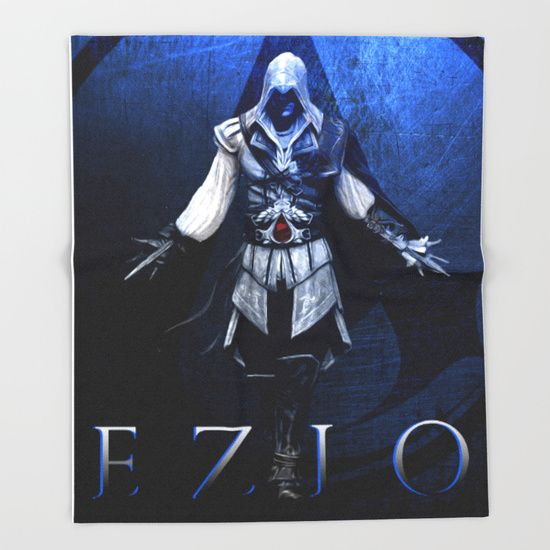 Assassin's Creed Ezio Poster Throw Blanket.  #society6  #throwblanket #blanket   #homedecor #homegifts #giftsforhim #giftsforher #bachelorhome  #gaming #gamer #gamersroom #geek 3nerd #geekgifts #ezioauditoreblanket