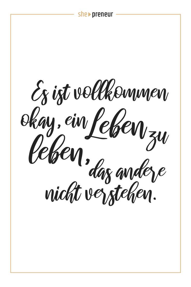 Es ist vollkommen okay, ein Leben zu leben, das andere nicht verstehen. #ShePren…