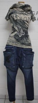 Modegalerie-Bongardt - Sommer 2017 Jeans mit Taschen tiefer Schritt/langes Bein original-print