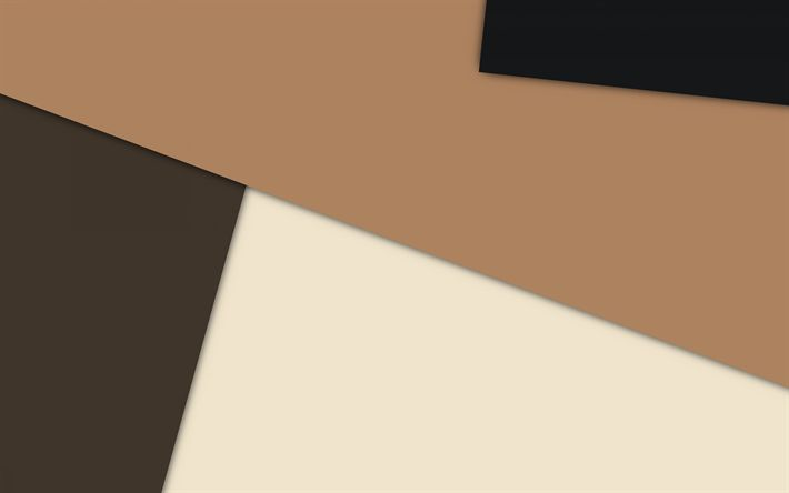 Download wallpapers brown gray abstraction, material design, android, geometric backgrounds