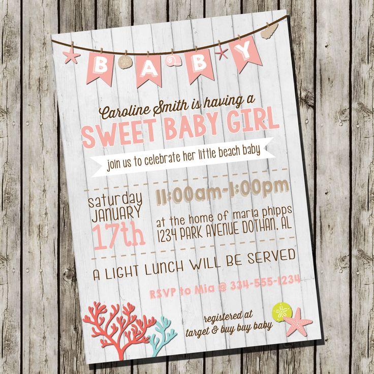 Beach Baby Shower Invitation | Couple Baby Shower Invitation | Baby Custom  Digital Invitation