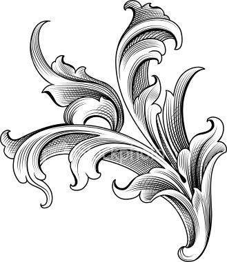 Baroque Ornament Royalty Free Stock Vector Art Illustration