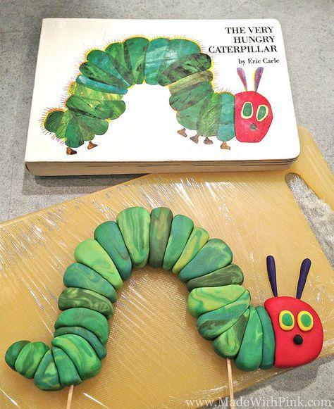 The Very Hungry Caterpillar Birthday Cake Topper Tutorial