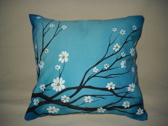 17 best images about hand painted fabrics on pinterest for Hand painted pillows