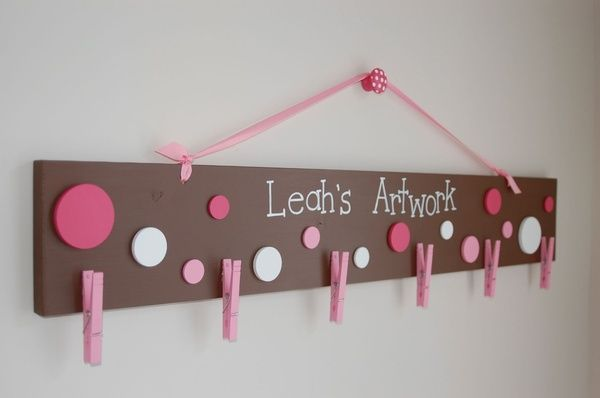 Art Childs Artwork Display crafts in playroom one for kinsleys and one for the other baby