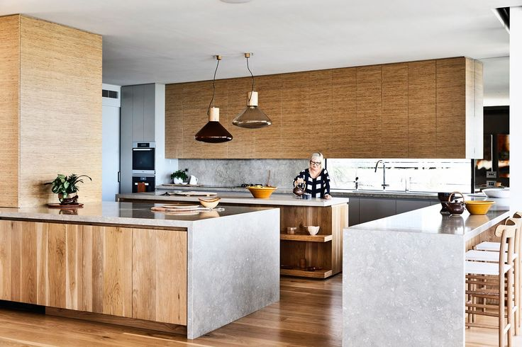 Timber kitchen from luxurious Great Ocean Road home inspired by nature. Photography: Derek Swalwell   Styling: Heather Nette King   Story: Australian House & Garden