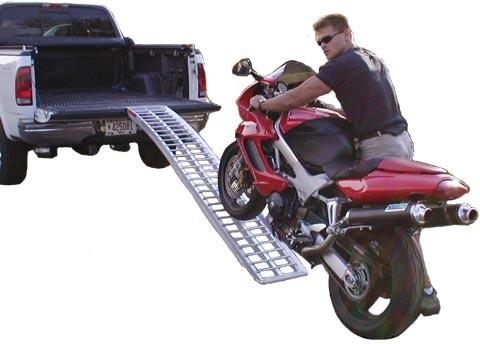Single Runner Aluminum Motorcycle Ramps