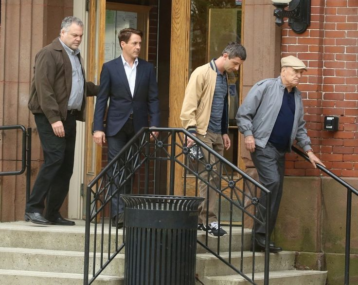 The Judge' films in Shelburne Falls, Massachusetts on June 6, 2013. The movie stars Robert Downey Jr., Robert Duvall, and Vincent D'Onofrio.