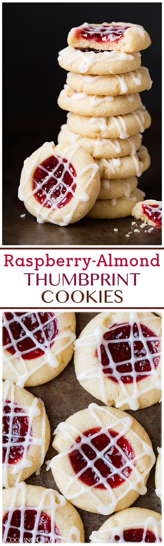 Raspberry Almond Shortbread Thumbprint Cookies - these are one of my FAVORITE Christmas cookies!