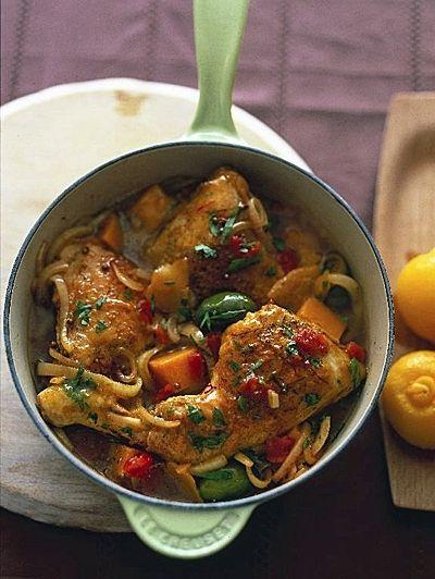 Stoofschotel van Marokkaanse kip | ELLE Eton Moroccan Chicken stew - I will translate it after I try it!
