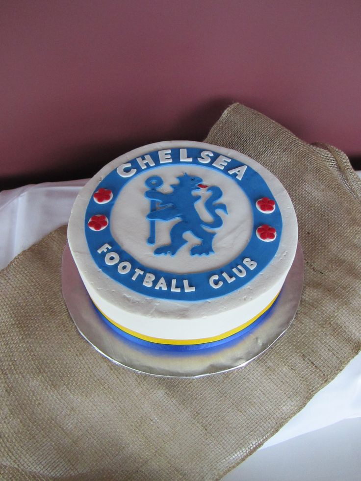 Birthday Cake With Chelsea Logo