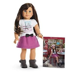 "American Girl GRACE THOMAS DOLL OF THE YEAR 18"" NEW Bracelet Book NIB FAST SHIP"