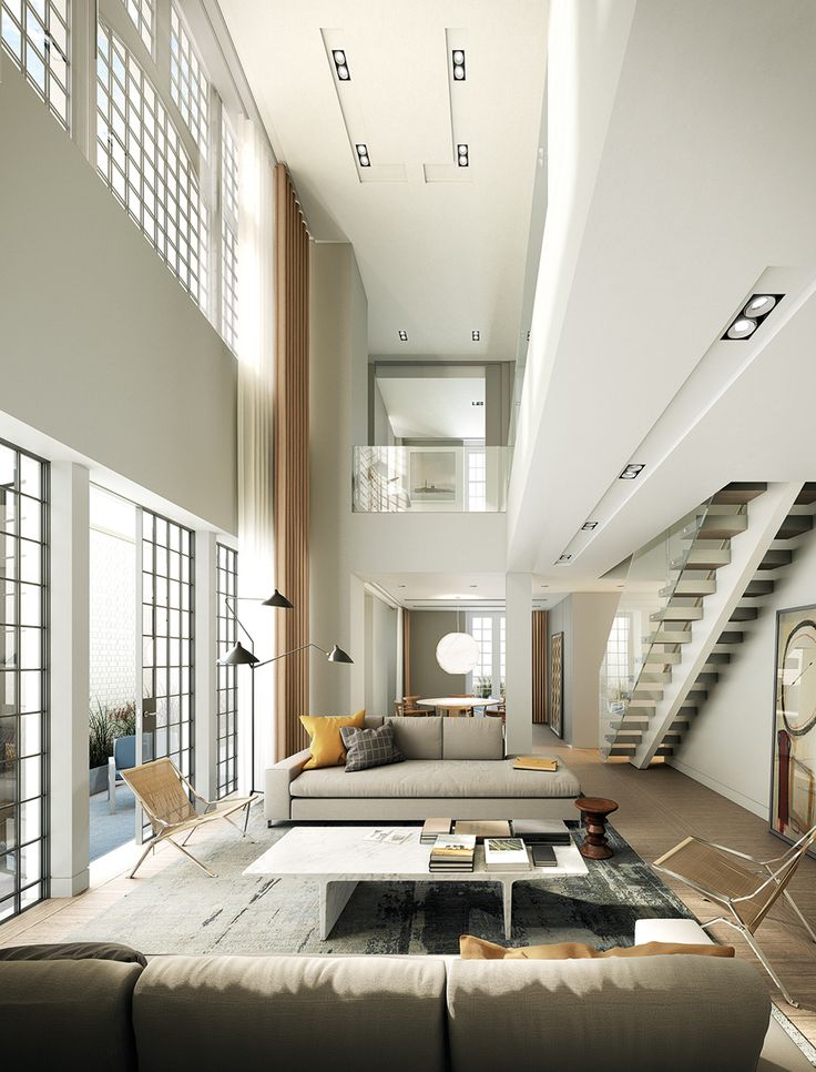 Penthouse apartments at Fitzroy Place, London | Lifschutz Davidson  Sandilands #light #penthouse #