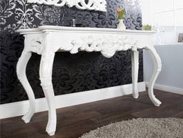Console baroque Handson blanche