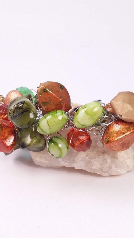 Beaded Wire Crocheted Bracelet http://arnd.co/8sy3H  #gr8byz #kprs