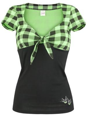 Green Plaid Shirt by Pussy Deluxe. I LOVE this color & Pussy Deluxe is a fantastic brand!!