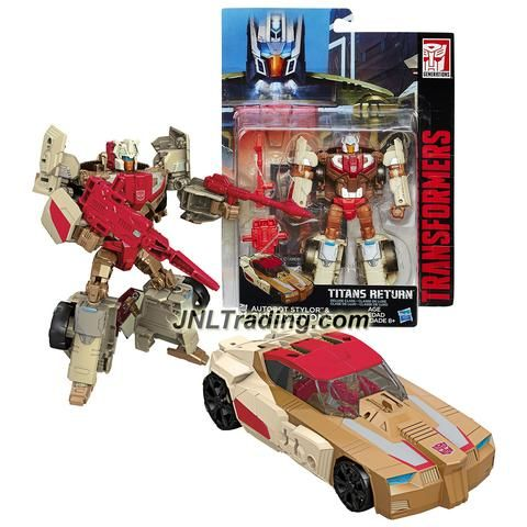 Hasbro Year 2015 Transformers Titans Return Series 5-1/2 Inch Tall Figure - AUTOBOT STYLOR & CHROMEDOME with Blasters & Card (Vehicle: Sports Car)