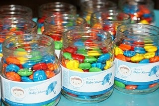 Great Baby Shower Idea using recycled baby food jars