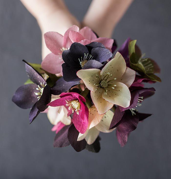 Krepové květy   návod   en