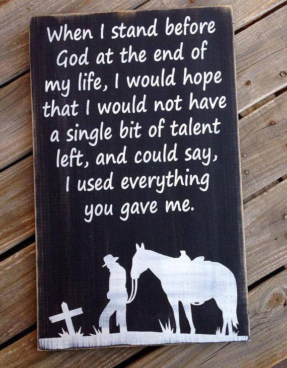 Typography Word Art Sign  Cowboy Prayer by ABurlapButterflyShop