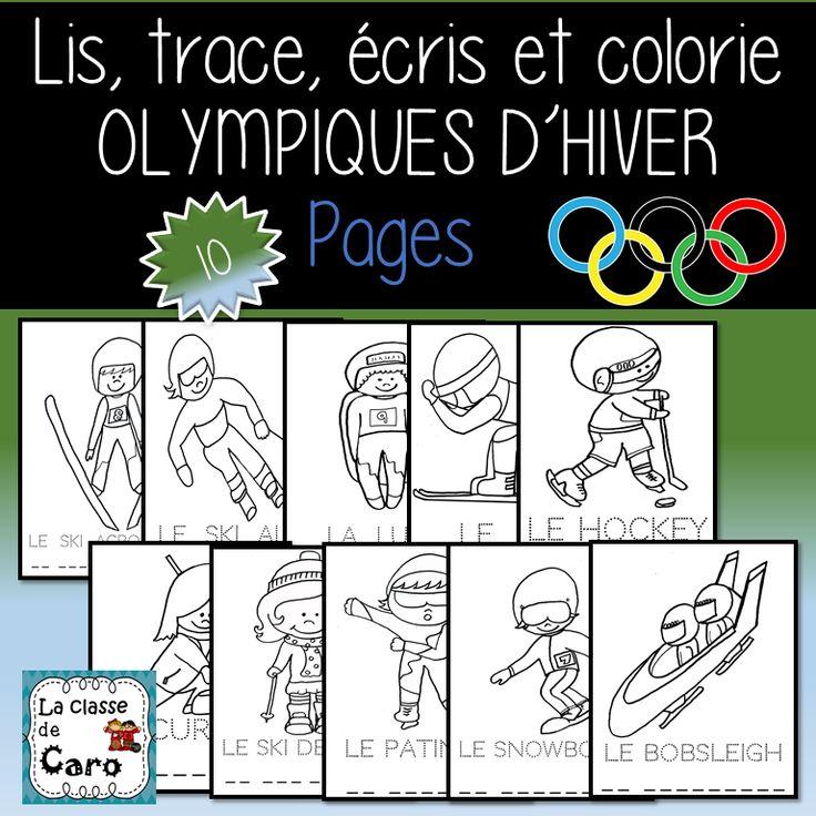 LIS, TRACE, ÉCRIS ET COLORIE - OLYMPIQUES D'HIVER (scheduled via http://www.tailwindapp.com?utm_source=pinterest&utm_medium=twpin)