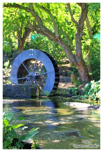 Moulin à eau à Saint-Paul, île de la REUNION