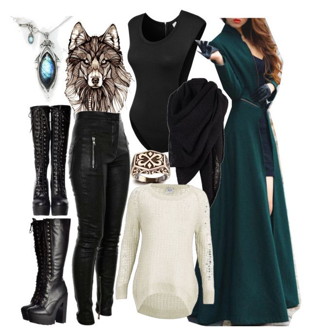 Winter Wonder-Waste Land by ironraven281 on Polyvore featuring polyvore fashion style Vero Moda LE3NO AllSaints clothing